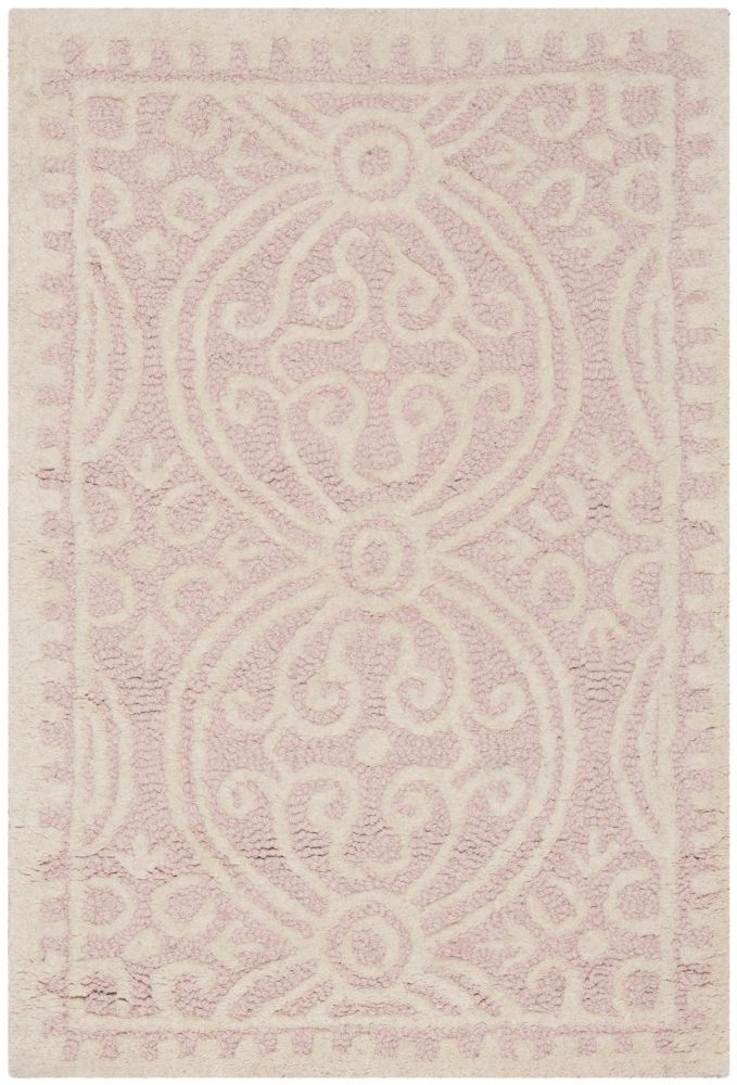 Cambridge Jacob Light Pink Ivory 2 Ft X 3 Ft Indoor Area Rug Hand Tufted Rugs Wool Area Rugs Rugs