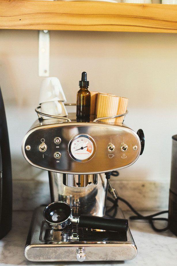{Espresso machine.}