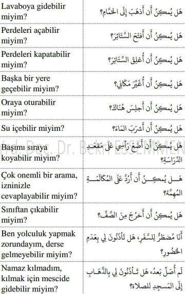 أسئلة في اللغة التركية