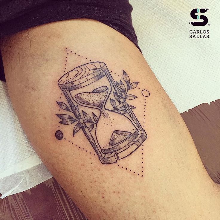 Fresh WTFDotworkTattoo Find Fresh from the Web Tatuaje #99 - Un reloj de arena…