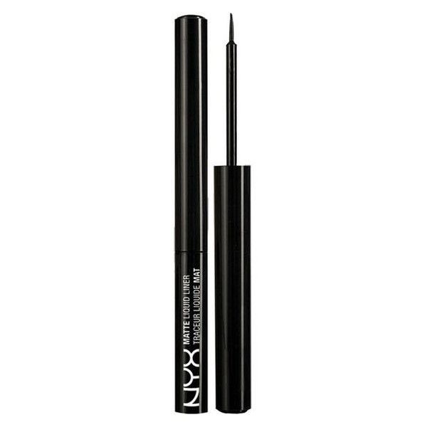Nyx Cosmetics Matte liquid liner ❤ liked on Polyvore featuring beauty products, makeup, eye makeup, eyeliner, liquid eyeliner, nyx eyeliner, nyx, liquid eye liner and liquid eye-liner