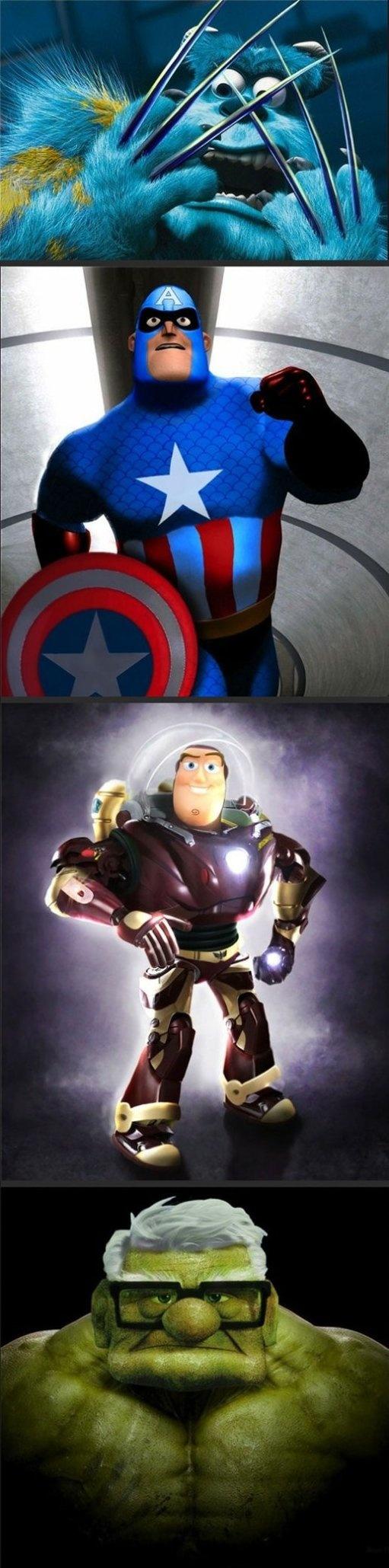Pixar Marvel Mashups