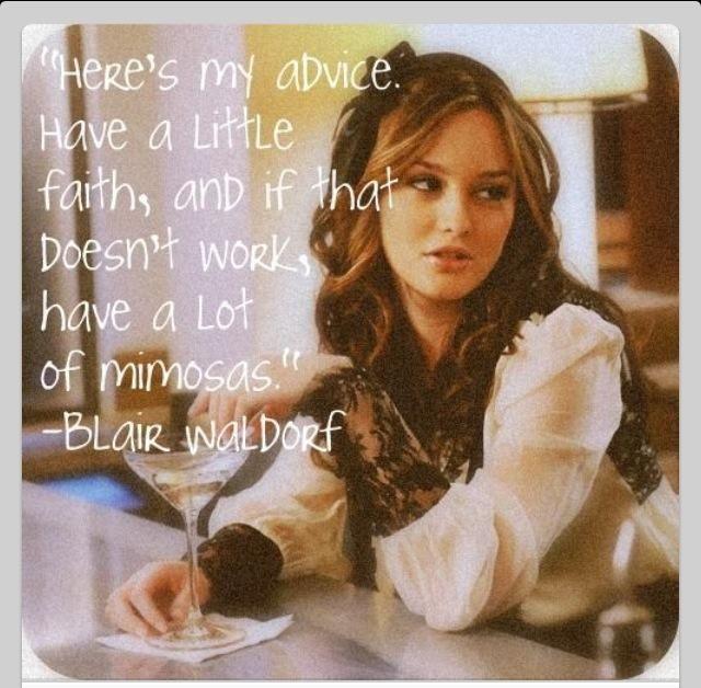 Blair gossip girl // heres my advice