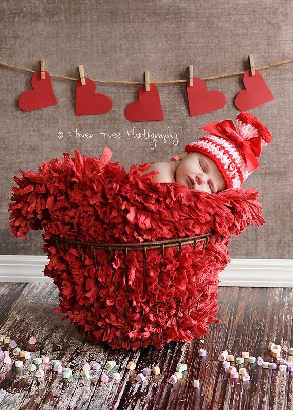 Newborn Valentines Day Hat Newborn Photo Prop By Violetsplayground