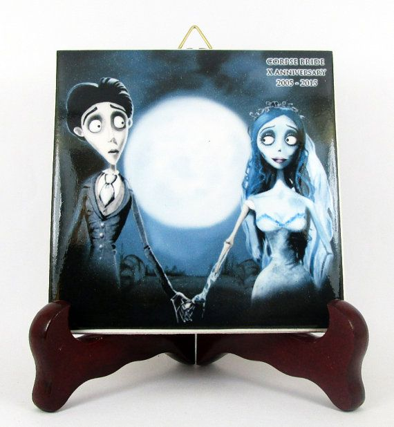 Corpse Bride Ceramic Tile 10th Anniversary by TerryTiles2014