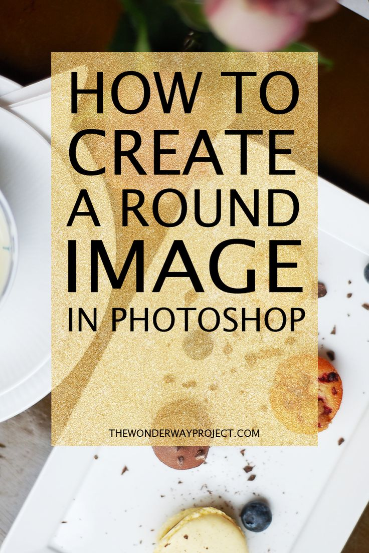 A quick and easy tutorial on creating a round image in Photoshop. Even if you're a beginner, you can learn to do this in a matter of minutes! ---> Click through to the blog to see the easy tutorial!