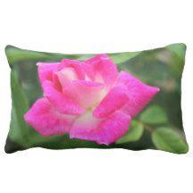 Dark Pink Rose Pillow