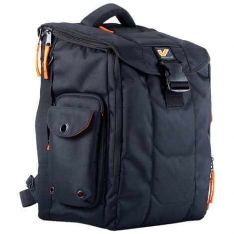 """The largest multi-use cargo bag from our Venue Series, featuring a voluminous main compartment, exclusive """"locker door"""" side access, removable soft shelves, and modular add-ons to organize all your gadgets. Front pocket cushions up to a 15"""" laptop with an upgrade option to accommodate a 17""""."""