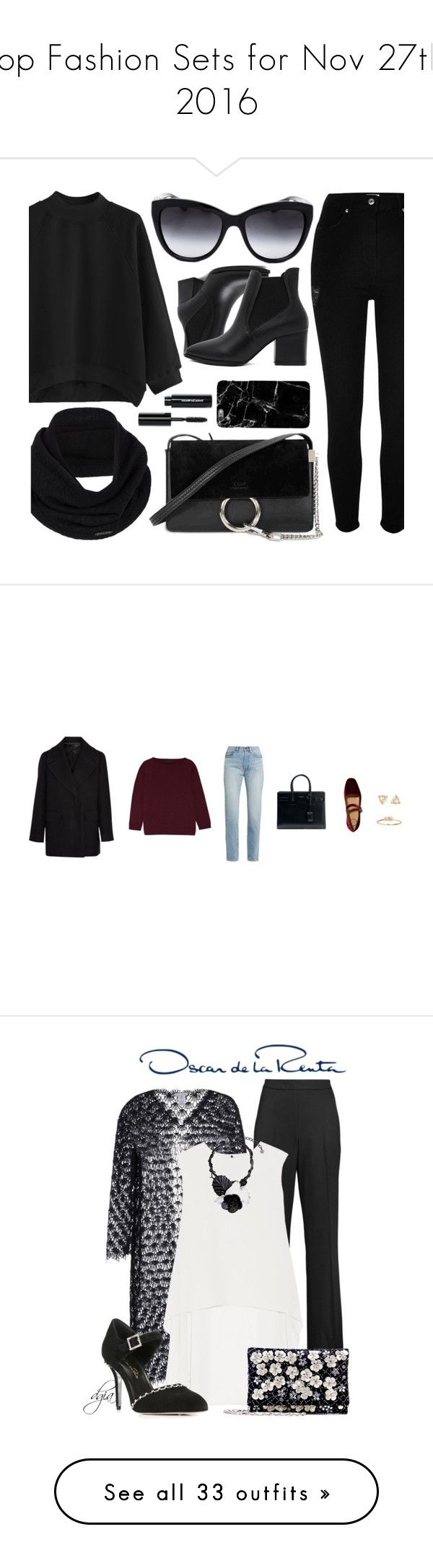 """""""Top Fashion Sets for Nov 27th, 2016"""" by polyvore ❤ liked on Polyvore featuring River Island, Dolce&Gabbana, prAna, Chloé, Bobbi Brown Cosmetics, black, The Row, Serge Lutens, Hermès and Yves Saint Laurent"""