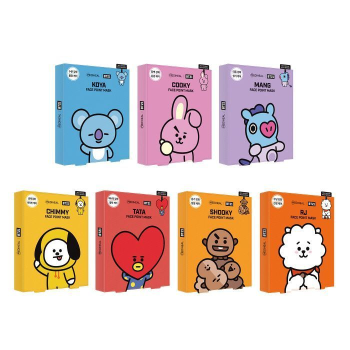 Bt21 Mediheal Face Point Facial Mask Koreanfacialmask