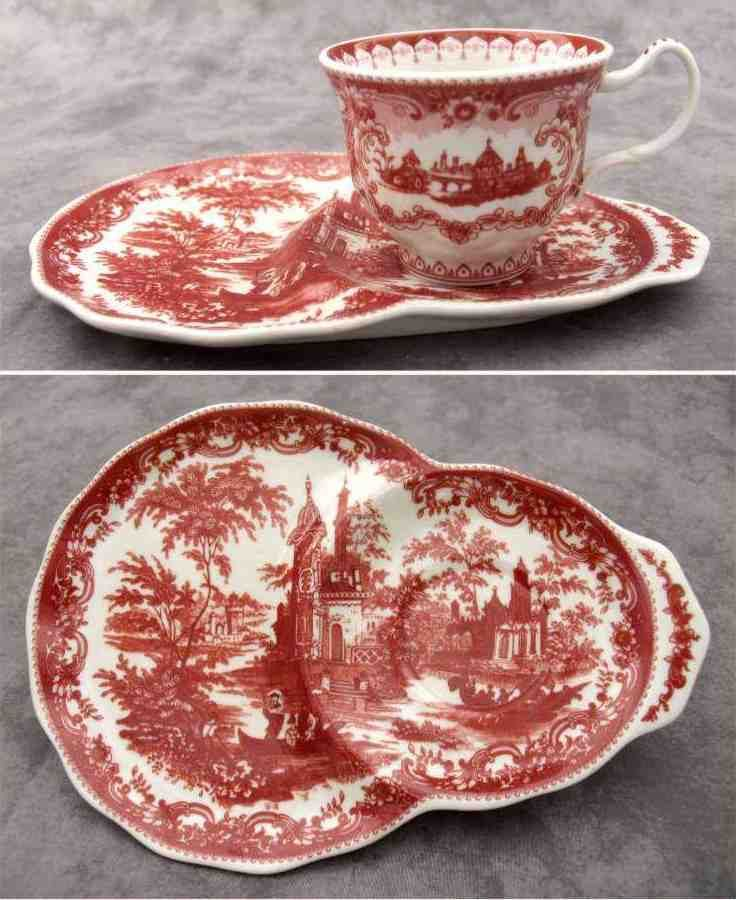 RED & CREAM TRANSFERWARE VICTORIAN TOILE TEA AND TOAST SET ~ Tea and Crumpet ~ | Pottery & Glass, Pottery & China, China & Dinnerware | eBay!