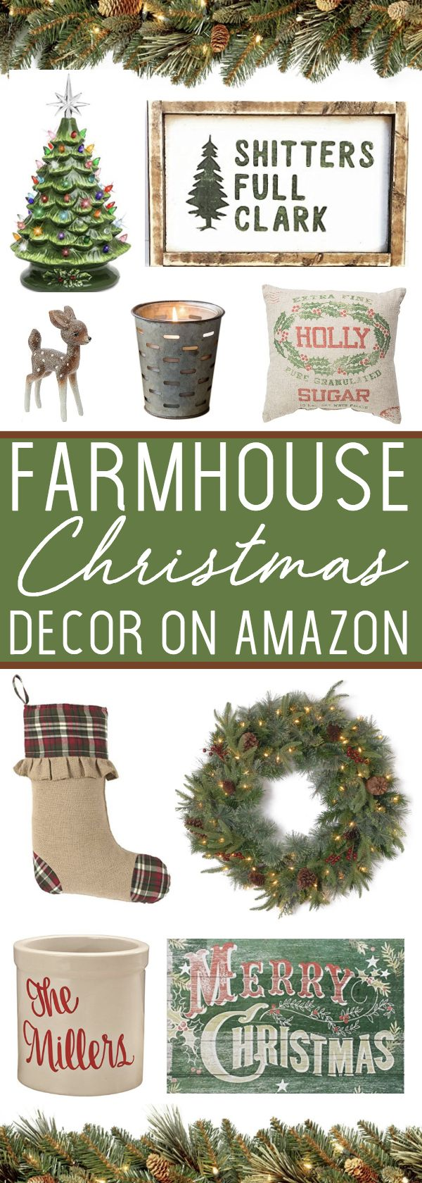 Farmhouse Christmas Decor on Amazon - these top picks are sure to bring holiday cheer to your home! #affiliate #ad