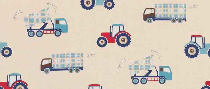 Tractors And Trucks Childrens Fabric At Laura Ashley