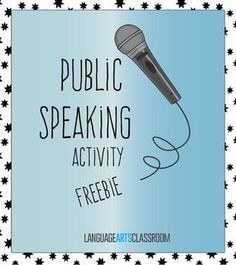 public speaking assignments Recently i had an opportunity to teach public speaking for middle school students — in our area that includes students ages 10-14 i developed some new assignments.