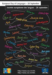 poster Journée européenne des langues 26 septembre