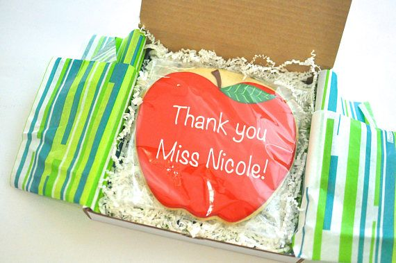 The perfect customized gift to thank your teacher for all their hard work! This really big (8 x 8) cookie, can be personalized with your own special message of up to 20 letters. Each cookie is packaged and mailed in a special box with an enclosed card. Please indicate the cookie message AND the gift card message under special instructions at check out, as well as the approximate date you would like your cookie gram to arrive.   **My cookies are made with the finest quality all natural…