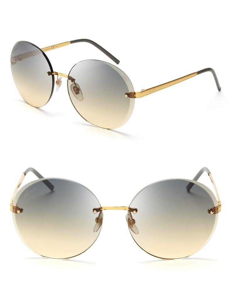 d1560ed3d76686 Gucci Round Rimless Sunglasses