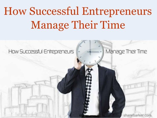 How Successful Entrepreneurs Manage Their Time by Shane Barker via slideshare