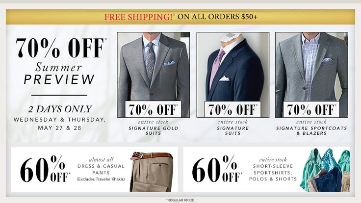 Shop Menswear from the Expert in Men's Apparel | Jos. A. Bank