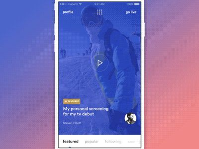We are working on app which have a similar functionality with Periscope app but there are some new features and absolutly different UX/UI.  Sorry for the small size, the bigger version turned out t...