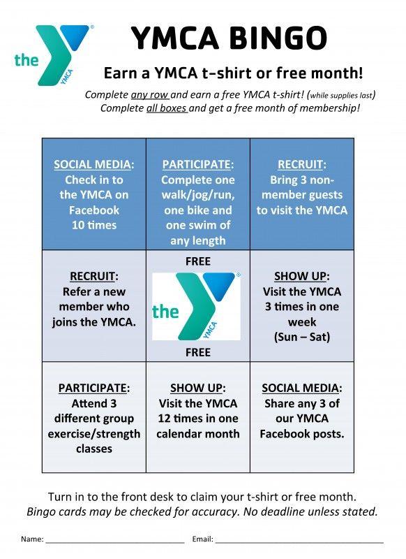 YMCA BINGO! | Parkview Huntington Family YMCA | YMCA | Fun