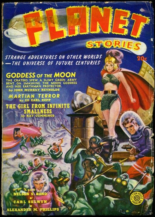 planet stories, cover art by anderson, 1940