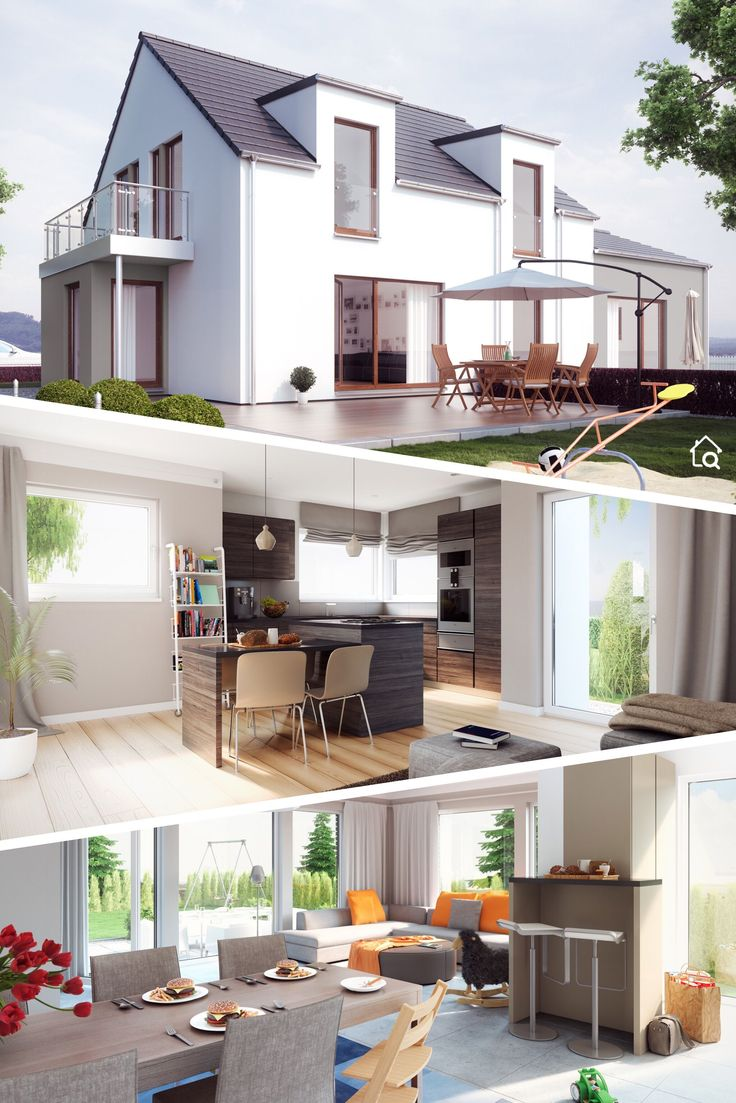 Modernes Fertighaus mit Satteldach ohne Dachüberstand & 5