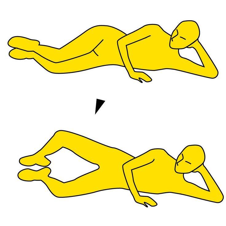 iPhoneアプリは→ https://itunes.apple.com/jp/app/minnaga-shouseta!1ri5fen-shuidemo/id581817739?mt=8  ■ながら脚痩せ!  ※画像参照   1.床に横になり、頭を床側の手で支えます。※画像参照    2.両脚は閉じて、ひざを軽く曲げておきます。    3.足先はくっつけたまま、ゆっくりとひざだけを開いていきます。※画像参照    4.ひざを開ききったらゆっくりと元に戻し、ひざがくっつく直前でまた開いていきます。    これを10回×3セットやりましょう。※集中してできない時はやれる回数だけでOKです。     ■POINT  1.ひざを開くときに息を吐きましょう。   2.太もも〜お尻の力で脚を開くように意識しましょう。  https://itunes.apple.com/jp/app/minnaga-shouseta!1ri5fen-shuidemo/id581817739?mt=8