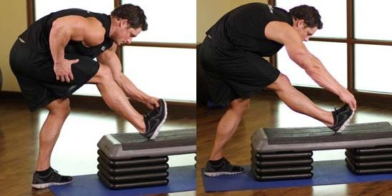calf stretch exercises for stretch and flex calf muscles pre and post workout.The calf stretch has been detail explained with picture illustrations.