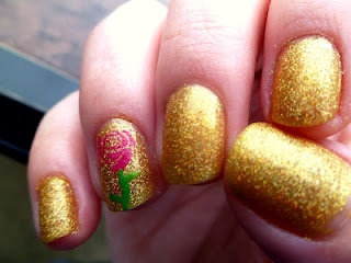 beauty and the beast inspired nails