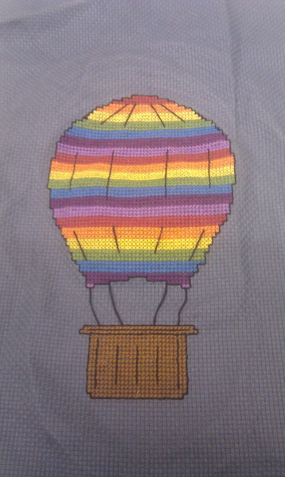 Hot Air Balloon Cross Stitch Pattern PDF by CeleenaCreeCreations, $2.49