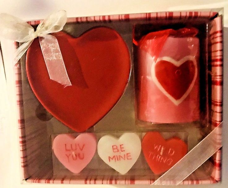 Valentine Candle Gift Set New in Box New