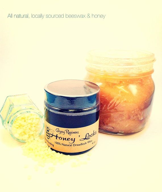 Honey Locks Dread Wax. Beeswax-based dreadlock by GypsyRegimens