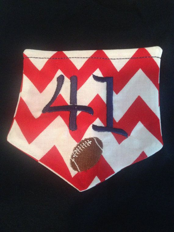 Monogrammed Pocket TShirt for any Football Mom on Etsy, $15.00