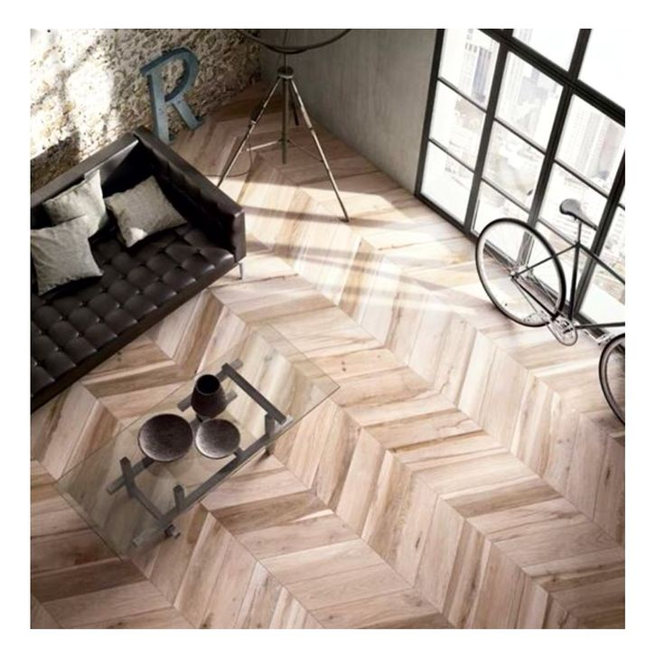 Stunning Herringbone Wood Look