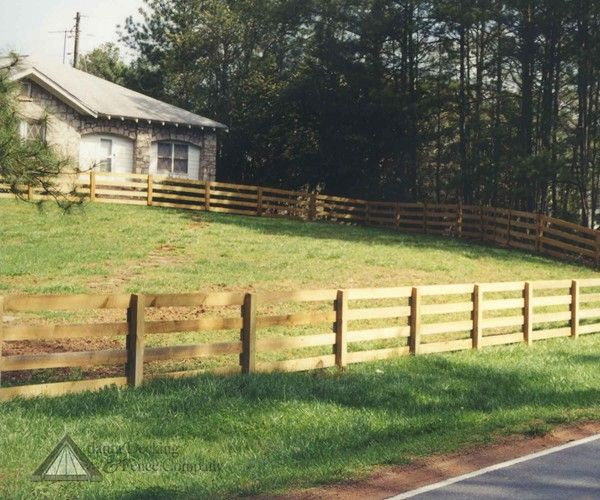 Wood rail fences designs custom in atlanta