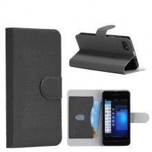 Forro BlackBerry Z10 Tipo Libro - Negro  Bs.F. 109,25