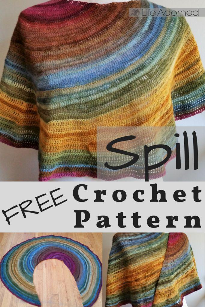 Free Crochet Shawl Pattern: Spill
