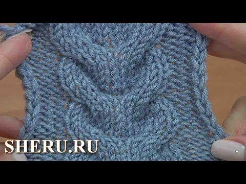 Knitting a Double Stitch Pattern Урок 15 Косы вязаные спицами - YouTube