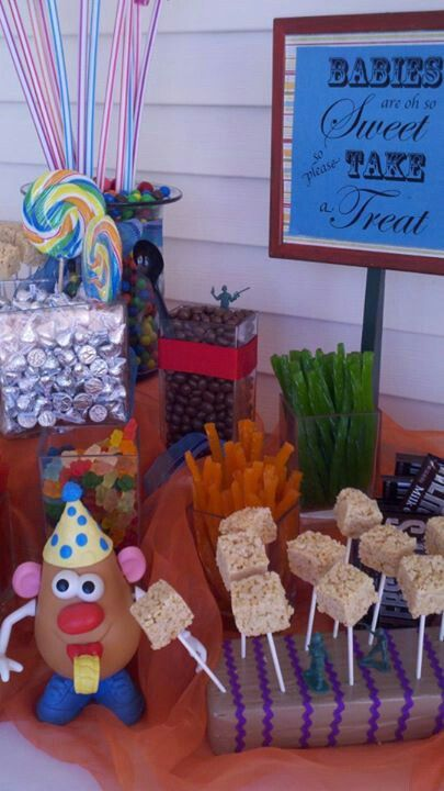 fun candy buffet for a toy story themed baby shower virginia 39 s house