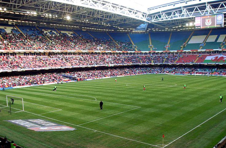 Cardiff Millenium Stadium. European Championships qualifier Wales vs. Finland 0-2 (28.3.2009).