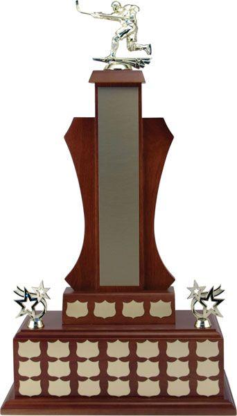 """27"""" Walnut Finish Annual Trophy"""