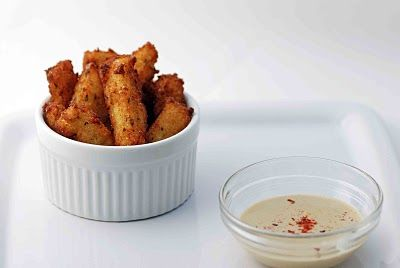 Chickpea fries with spicy dipping aoli!! Gluten free and naughty all the way!
