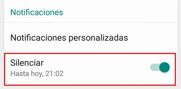 Cómo silenciar a una persona en WhatsApp para Android