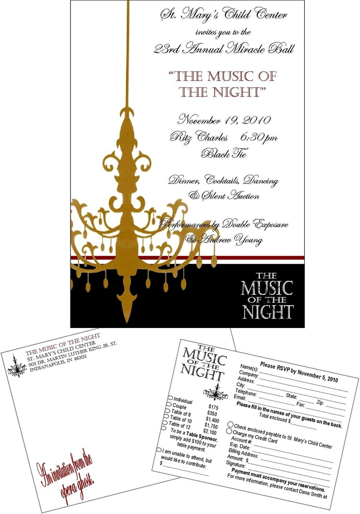 Best Fundraising Images On   Gala Invitation