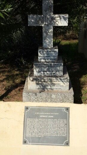 Herbert Vigne - the founding father of Greyton's final resting place in Greyton, Overberg, Western Cape, South Africa. #greyton #vigne #grave