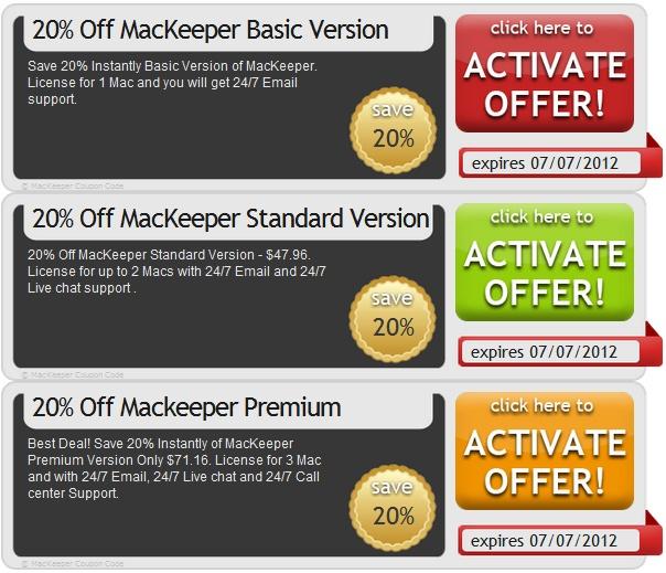 Mackeeper coupon code