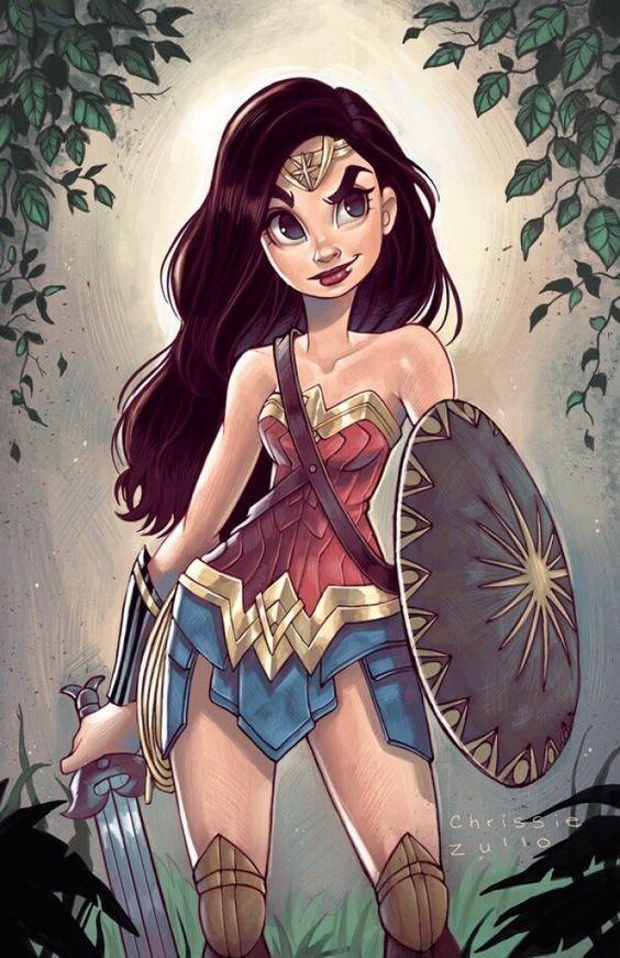 Technique De Colorisation En Numerique Dessin De Wonder Woman Par