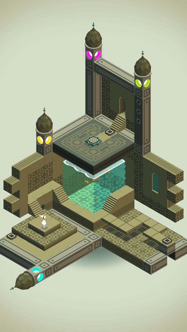 Even in M.C. #Escher's world the fish tank doesn't need walls. / #MonumentValley iOS #Game by ustwo