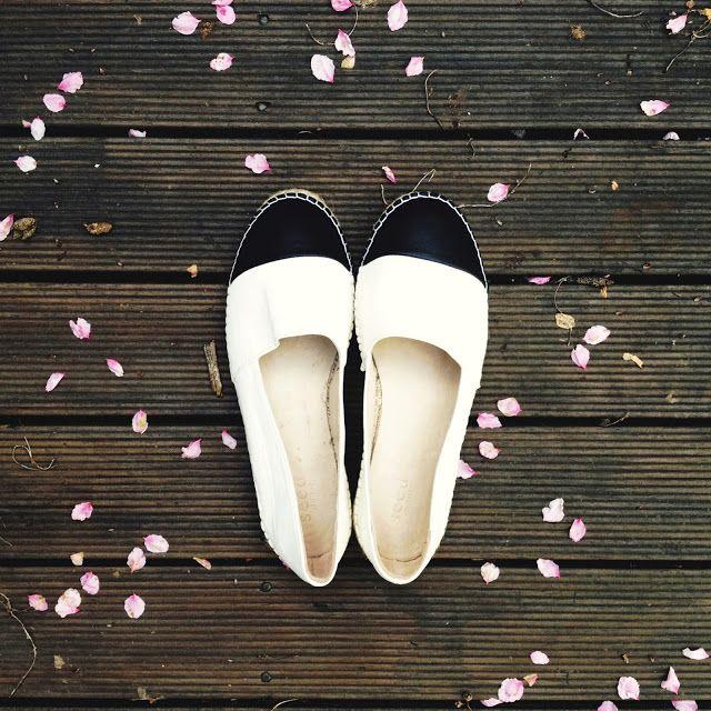Brigadeiro: Black and white: Seed Ava two-tone leather espadri...